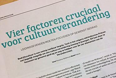Précon Food - Vier factoren cruciaal voor cultuurverandering